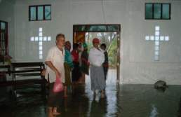 Flooded church building